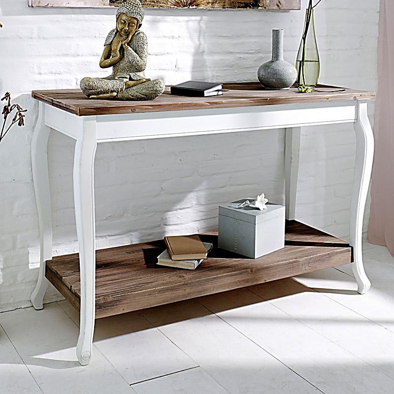 redirecting to suche konsolentisch country braun weiss. Black Bedroom Furniture Sets. Home Design Ideas