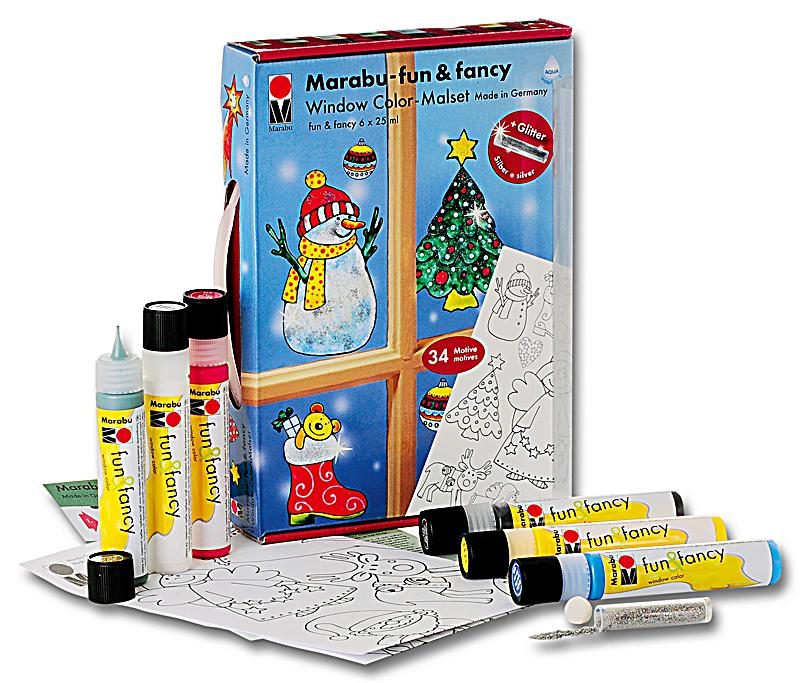 marabu fun fancy weihnachten window color set. Black Bedroom Furniture Sets. Home Design Ideas