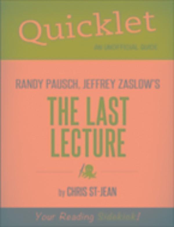 The Last Lecture Epub