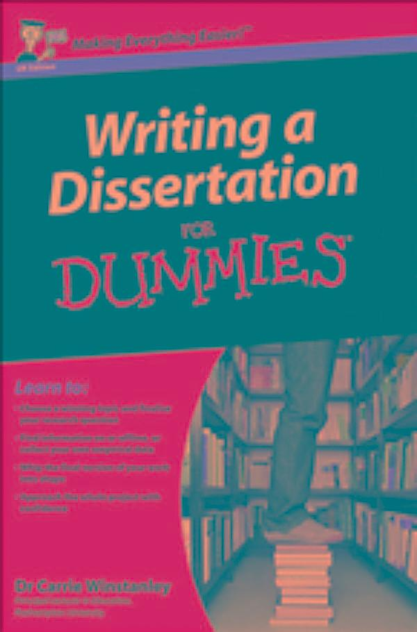 Writing A Dissertation For Dummies Online