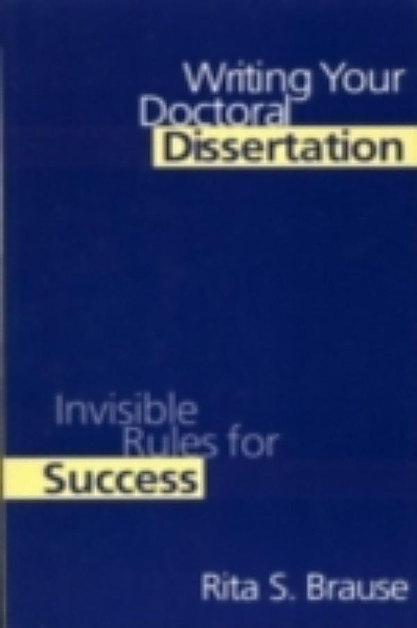 Doctoral Dissertation Writing Help