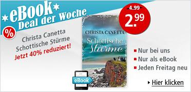 eBook Deal der Woche: Christa Canetta - Schottische Stürme für nur 2.99 EUR statt 4.99 EUR. Sie sparen 40 %