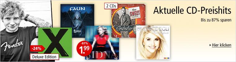 Aktuelle CD-Preishits - Musik zum Schnäppchenpreis