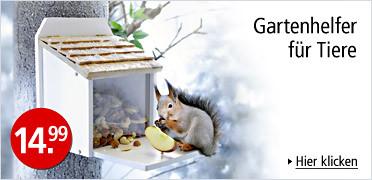 Futterstation: Gartenhelfer für Tiere