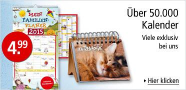 Über 50.000 Kalender - viele exklusiv bei uns