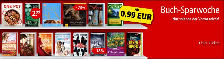 Buch-Sparwoche: Nur solange der Vorrat reicht!