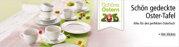 Schön gedeckte Oster-Tafel
