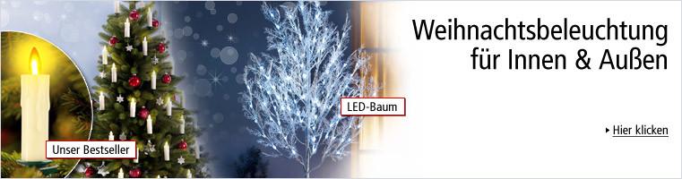 Weihnachtsbeleuchtung für Innen & Außen