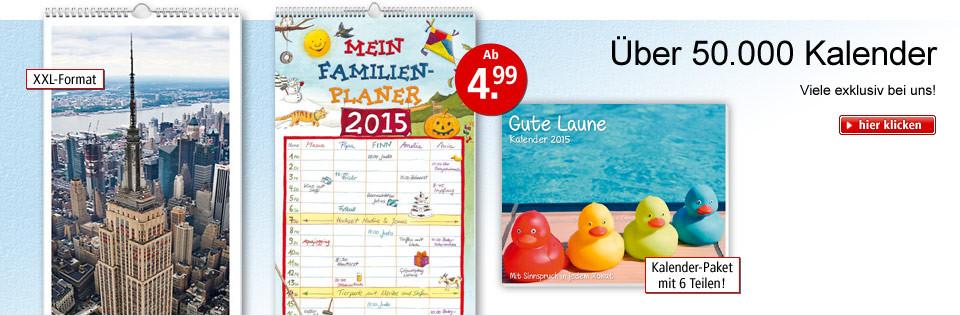 Frisch eingetroffen: Kalender 2015 - ab 4.99 EUR