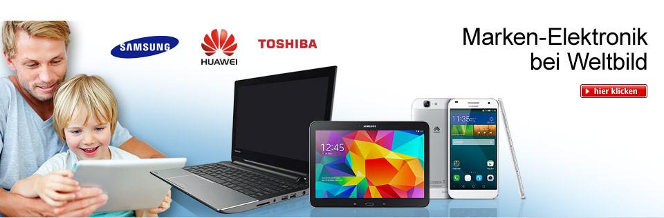 Samsung, Toshiba & Co.: Marken-Elektronik bei Weltbild