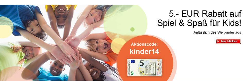 5.- EUR Rabatt auf Spiel & Spaß für Kids!