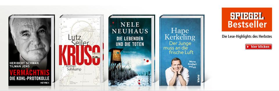 Nele Neuhaus, Hape Kerkerling, Die Kohl-Protokolle und mehr Bestseller