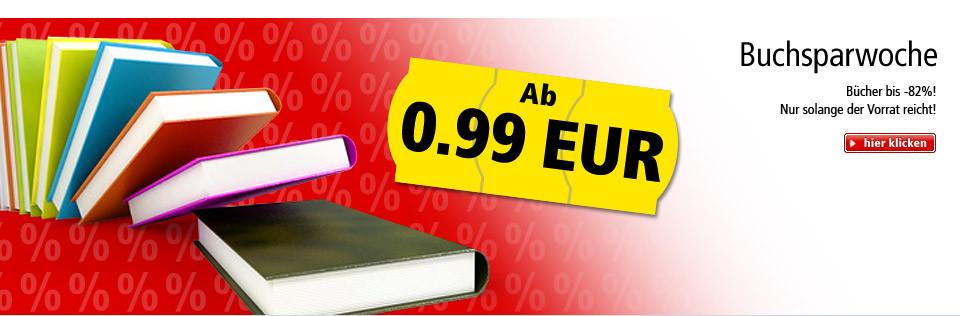 Buchsparwoche - Bücher bis 82% günstiger! Nur solange der Vorrat reicht!