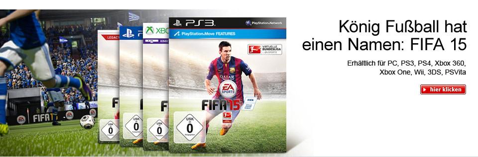 FIFA 15 für PC, PS4, PS3, Xbox 360, Xbox One, Wii, 3DS, PSVita