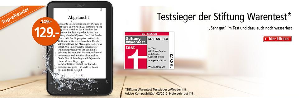 tolino vision 2 - Testsieger der Stiftung Warentest!