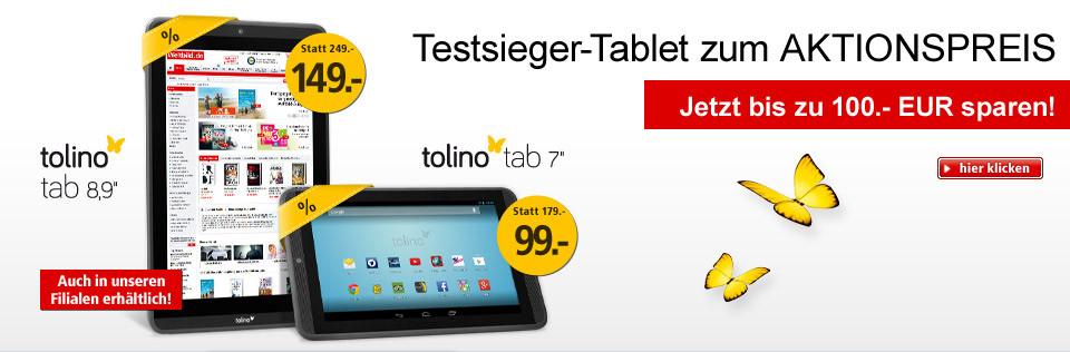 Testsieger-Tablet zum Aktionspreis: Jetzt bis 100.- EUR sparen!