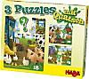 3 Puzzles mit Quatsch (Kinderpuzzle), Bauernhof