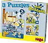 3 Puzzles mit Quatsch (Kinderpuzzle), Polizei, Feuerwehr & Co.