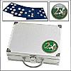 Alu-Münzkoffer für alle 2-Euro-Münzen in Kapseln