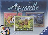 Aquarelle Maxi, Bildgröße 30 x 24 cm: Glückliche Pferde, Deko & Geschenke