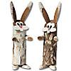 Baumstammfiguren Hasen, 2er-Set
