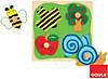 Biene, Apfelbaum und Schnecke (Holzpuzzle)