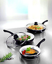 "Ceraflon Anti-Haft-Keramik-Pfannen ""Black Pearl"", 5-teilig"