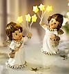 Deko-Engel mit LED-Sternen, 2er-Set