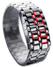 Design-LED-Uhr Iron Samurai, breit, Herrenuhren