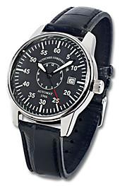 Deutsches Uhrenkontor Automatik-Armbanduhr Mod. 1966 (Farbe: schwarz), Herrenuhren