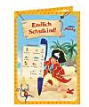 Endlich Schulkind! Grußkarte mit Zauberkuli Käpt'n Sharky