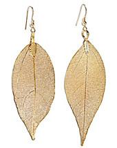 """Gemshine Ohrhänger """"Rosenblatt"""", Gold 18 k (Farbe: gold)"""