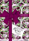 Geschenkpapier von Künstlerhand: Roses