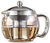 Glas-Teekanne, mit Teefilter-Einsatz aus Edelstahl
