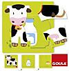 Goula (Holzpuzzle) 3 Stufen Kuh