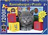 Graues Kätzchen (Kinderpuzzle)