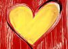 Grusskarte gelbes Herz