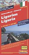 Hallwag Motorradkarte Ligurien; Liguria