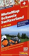 Hallwag Motorradkarte MotoMap Schweiz; MotoMap Switzerland; MotoMap Suisse; MotoMap Svizzera