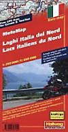 Hallwag Motorradkarte Oberitalienische Seen