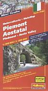Hallwag Motorradkarte Piemont, Aostatal; Piedmont, Aosta Valley