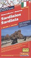Hallwag Motorradkarte Sardinien; Sardinia; Sardegna; Sardaigne