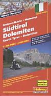 Hallwag Motorradkarte Südtirol, Dolomiten; South Tyrol, Dolomites