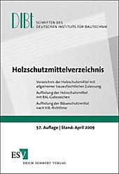 Holzschutzmittelverzeichnis, Hubertus Quitt, Fachbücher Technik