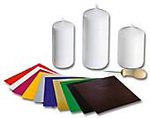 Kerzenverzier-Set, 14-teilig, Papier & Basteln