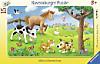 Knuffige Tierfreunde. Rahmenpuzzle 15 Teile