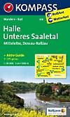 Kompass Karte Halle, Unteres Saaletal