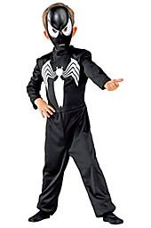 Kostüm Spiderman, schwarz, Overall, inklusive Maske, Größe 128