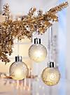 LED-Weihnachtskugeln Deluxe, 3er-Set