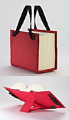 LexSkin rot, Buchhüllen-Tasche